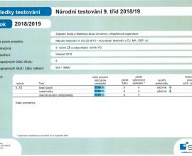 Výsledky testování SCIO - certifikát