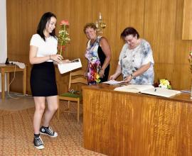 Rozloučení se žáky 9. ročníku na radnici