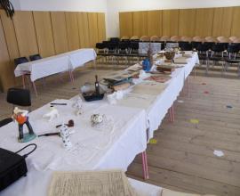 Projekt 100 let republiky - výstavka v sále