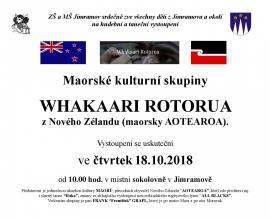 "Vystoupení Whakaari Rotorua pod vedením ""Čechomaora"" Franka Grapla dne18.10.2018"